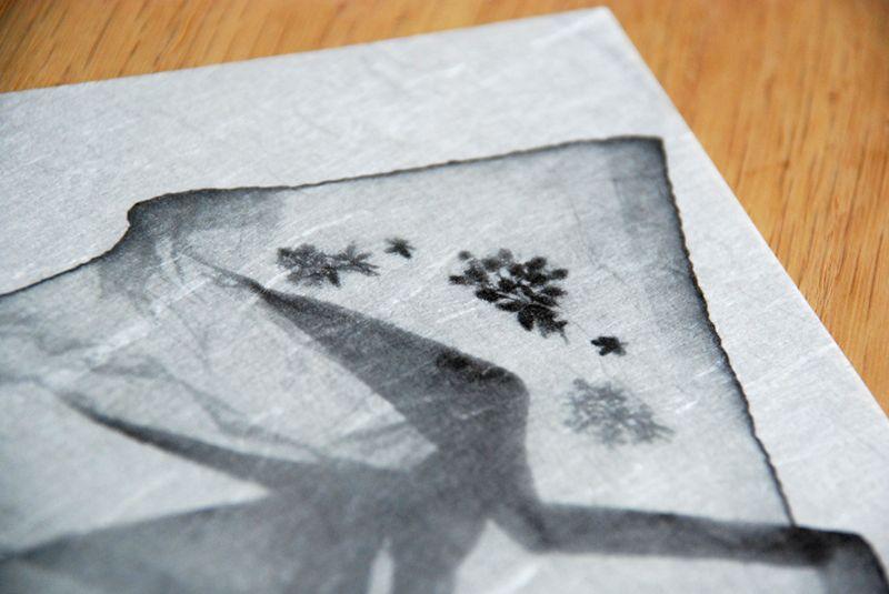 Hankie print jap paper straight corner