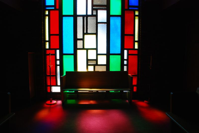 St. andrews pew stained glass