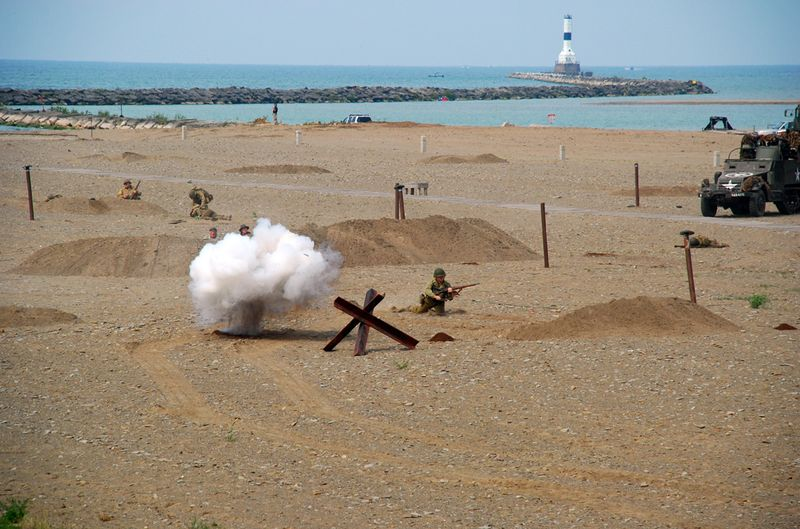 Explosion in sand