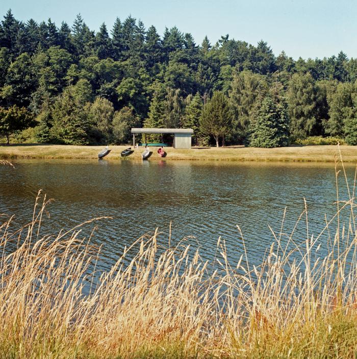 Canoes across lake web