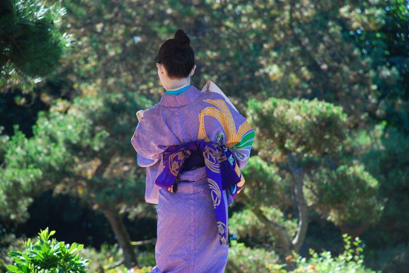 Kabukie dancer back