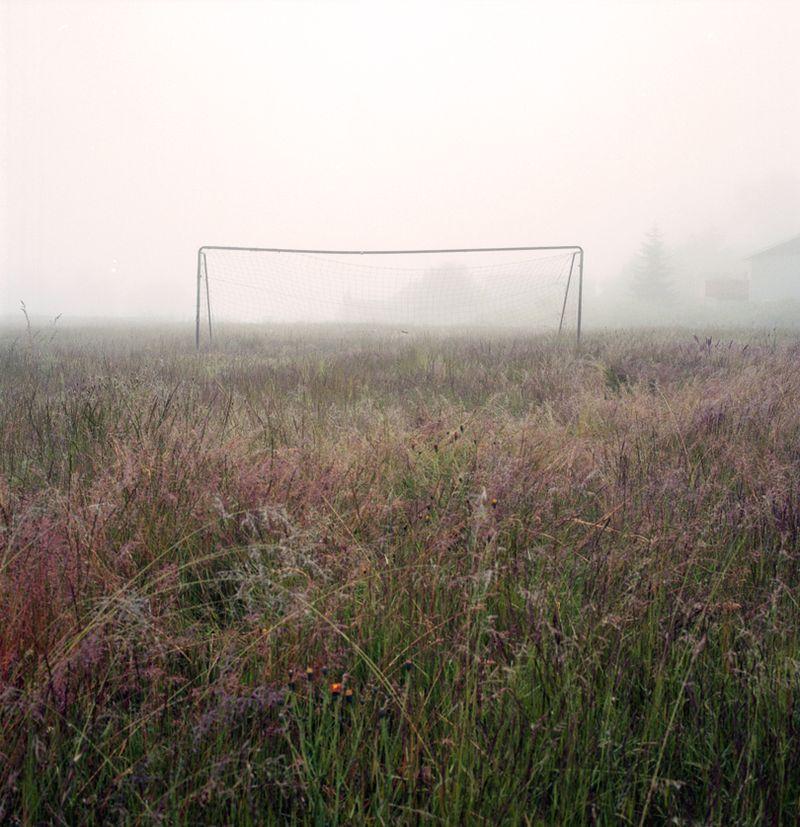 Goal net front on web
