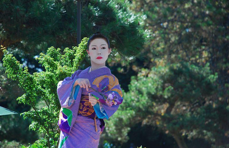 Kabuki dancer with flower