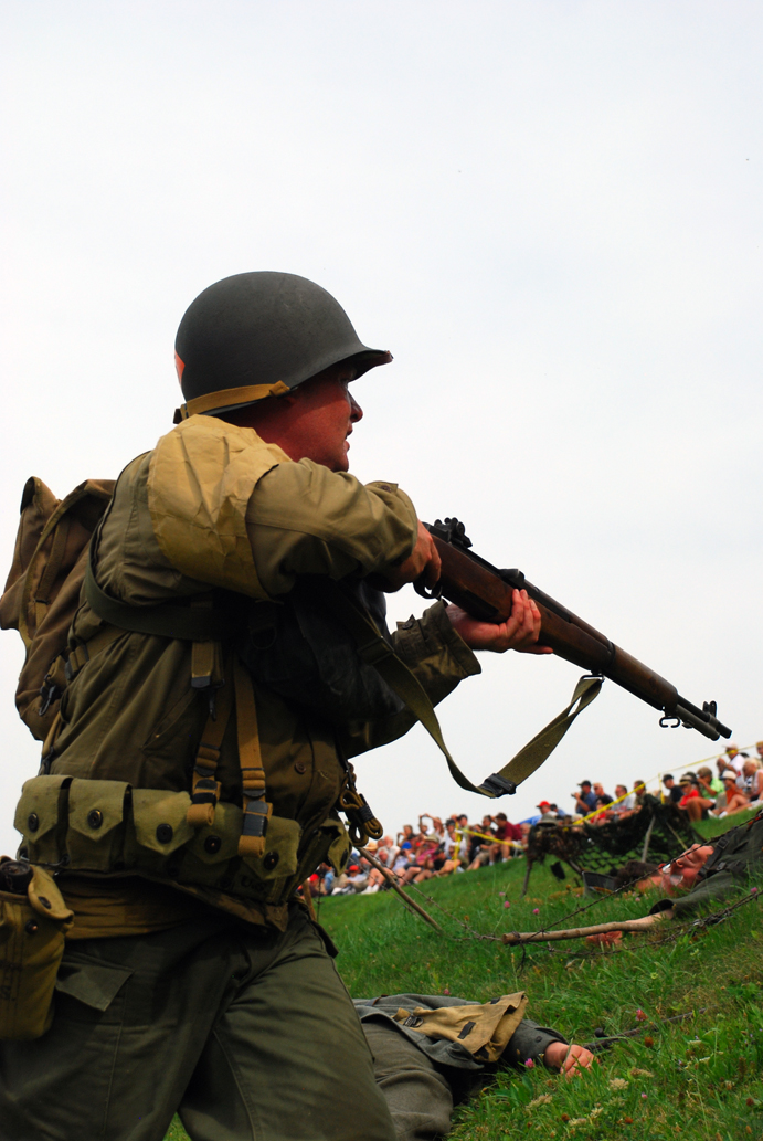 Approaching german line