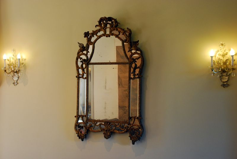Bloedel mirror on wall